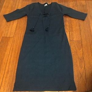 Hollister Ribbed Navy Dress